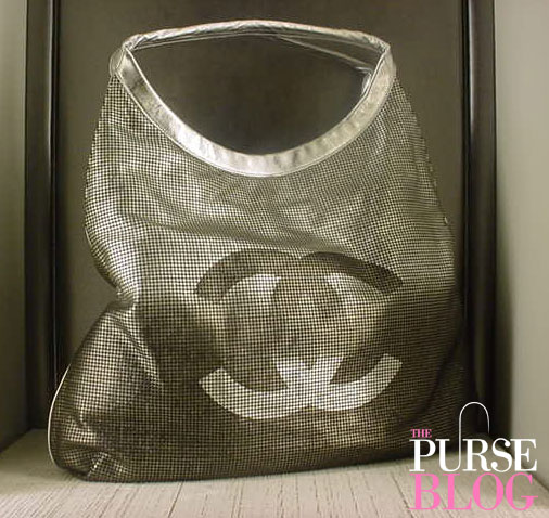 chanel hollywood hobo silver