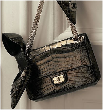 Chanel 2.55 Metallic Alligator Flap Bag