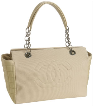 Chanel Canvas Quilted Tote