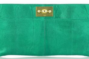 Chloé Elongated Lizard Clutch