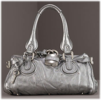 Chloe Paddington Satchel in Metallic Silver