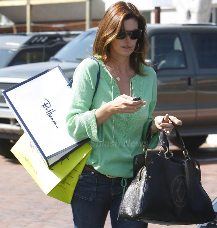 Cindy Crawford With Marcello De Cartier Bag