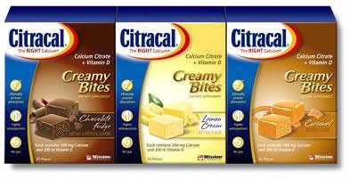 citracal creamy bites flavors