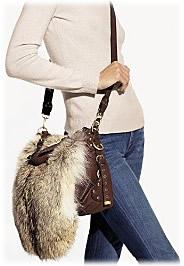 Cynthia Rowley Crossbody Fur Bag