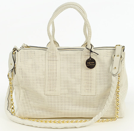De Couture Perforated Leather Tote