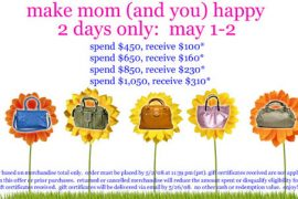 Delcina Mother's Day Promotion