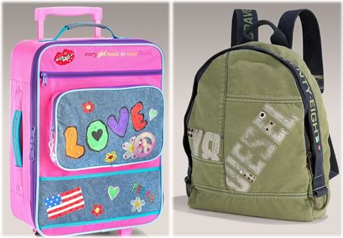 Kids designer travel gear