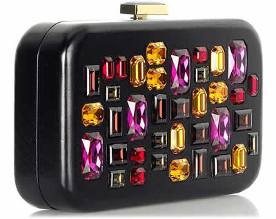 Devi Kroell Crystal Box Clutch