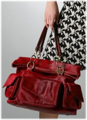 Diane von Furstenberg Red Convertible Bag
