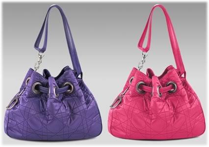 Dior Nylon Cannage Drawstring Bag