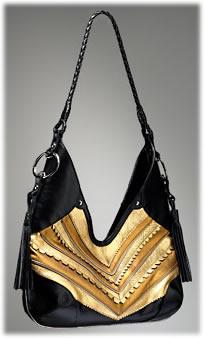 DKNY Snake Trim Nappa Hobo Handbag