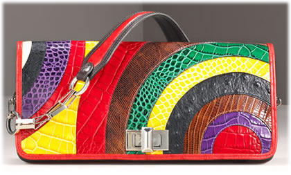 Etro Crocodile Clutch