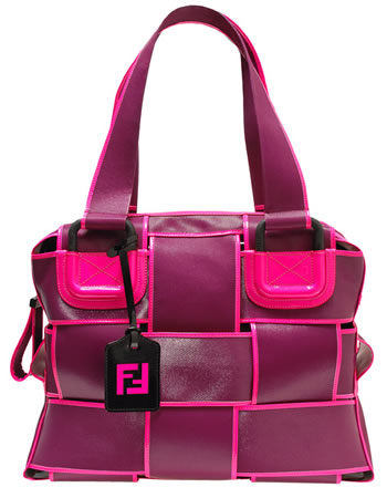 Fendi Canvas Coated Crossword Bag