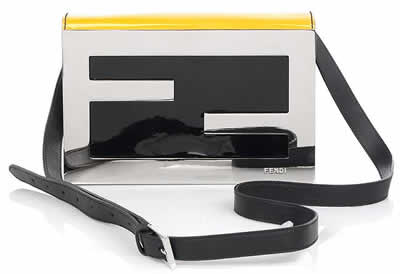 fendi flash logo clutch