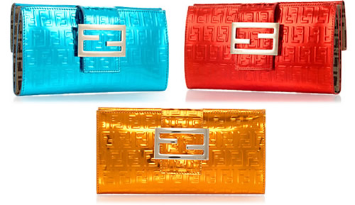 Fendi Neon Buckle Wallet