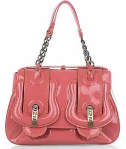 Fendi Patent Leather B Bag
