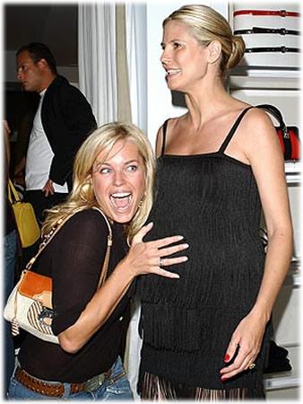 Heidi Klum and Rebecca Romijn