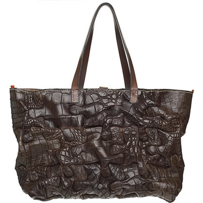 henry cuir alligator puzzle bag