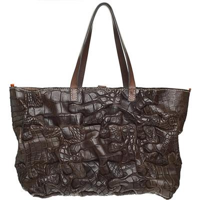 henry cuir alligator puzzle bag