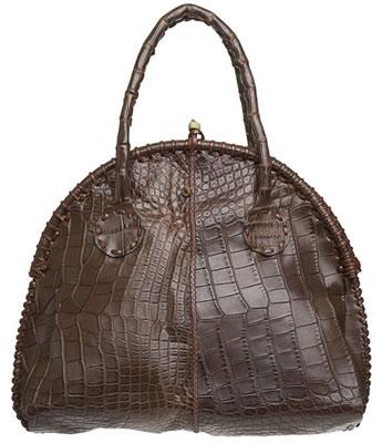 Henry Cuir Crocodile Eucaliptus Bag