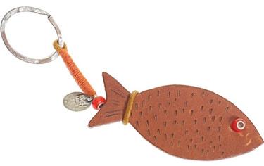 Henry Cuir Fish Key Ring