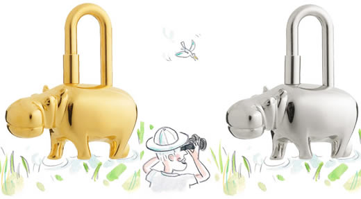 Hermes Hippopotamus Lock