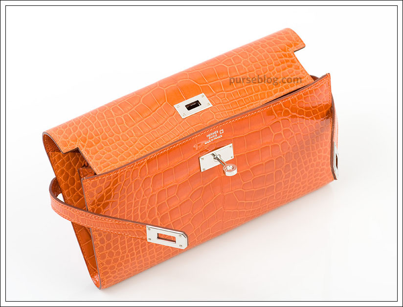 hermes orange wallet