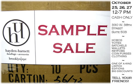 Hayden Harnett Sample Sale