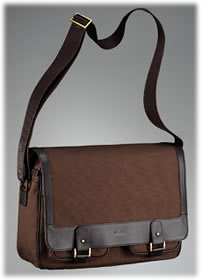 Hugo Boss Havana Canvas Messenger Bag