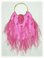 Ipa-Nima Cannes Taffeta Feather Bag