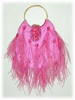 Ipa-Nima Cannes Taffeta Feather Bag