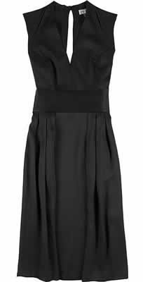 Issa Satin V-Neck Dress