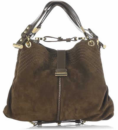 Jimmy Choo Alex Suede Shoulder Bag