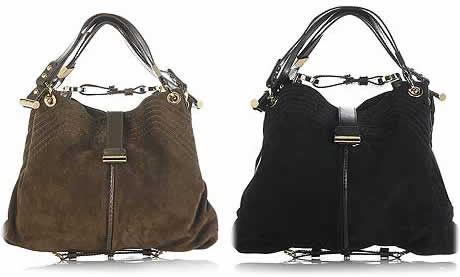 Jimmy Choo Alex Suede Shoulder Bag  Fab or Drab  - PurseBlog 1b34d6e1f9288