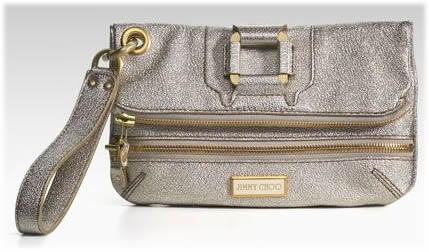 Jimmy Choo Metallic Foldover Clutch
