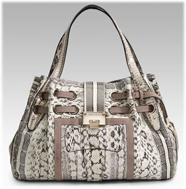 Jimmy Choo Ramona Snake and Suede Bag