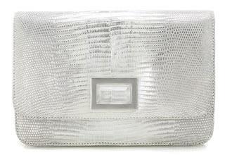 kara ross claro silver lizard bag