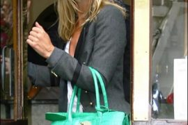 Kate Moss' Green Croc Bag