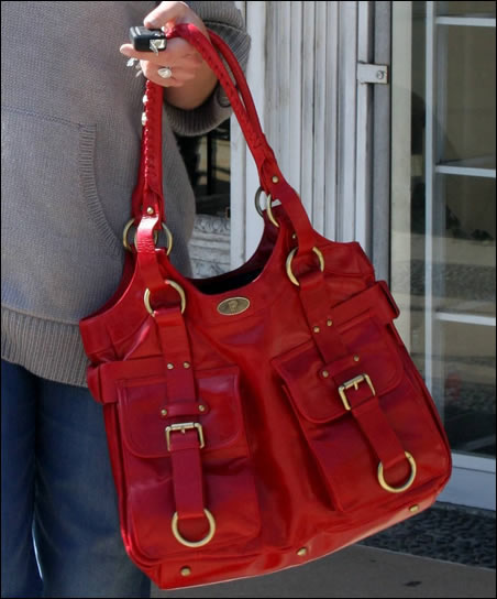 katherine heigl red bag