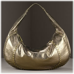 Kooba Chiara Metallic Leather Hobo