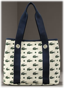 Lacoste Large Canvas Logo Tote