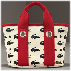 Lacoste Mini Canvas Logo Tote