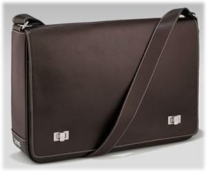 Lambertson Truex Brown Leather Mail Bag