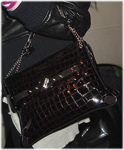Lindsay Lohan Croc Handbag1
