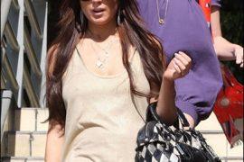 Lindsay Lohan Style: Dolce & Gabbana Coin-Purse Bowler