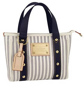 Louis Vuitton Antigua Navy Striped Cabas PM