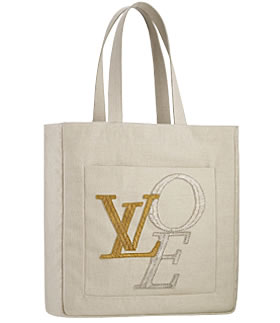 louis vuitton love canvas tote