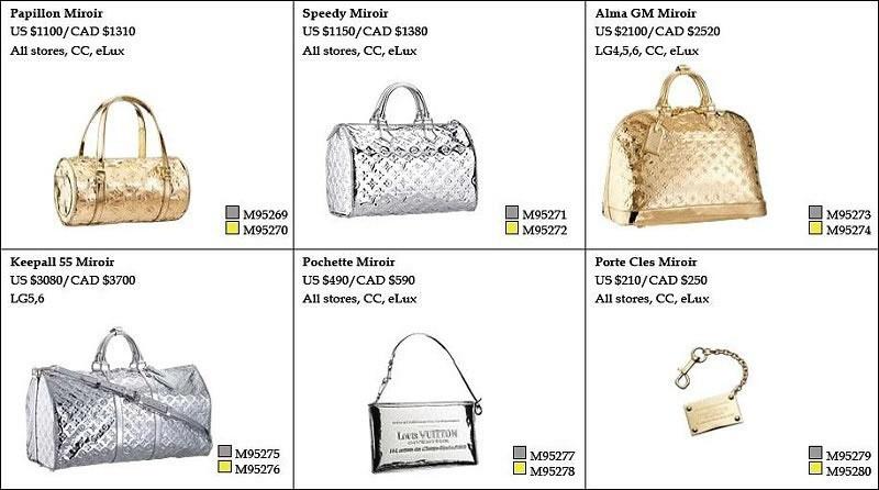 1626a77ff86b Louis Vuitton Miroir Handbag Line - PurseBlog