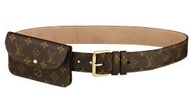 Louis Vuitton Monogram Canvas Pochette Belt 40