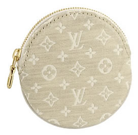Louis Vuitton Monogram Mini Lin Porte Monnaie Rond